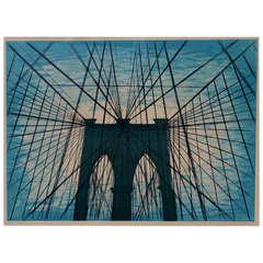 Lowell Blair Nesbitt Print Brooklyn Bridge, NYC, 1974 9/50