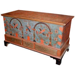 Early 19th Century Berks County, Pennsylvania Painted Dower Chest