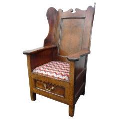 English Oak Lambing Wing Chair