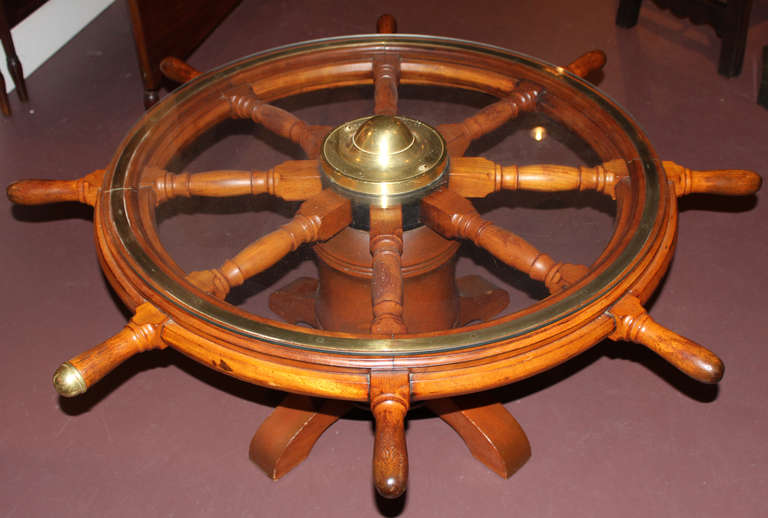19th C Ship S Wheel Coffee Table At 1stdibs