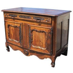 18th c. French Provincial Fruitwood Buffet