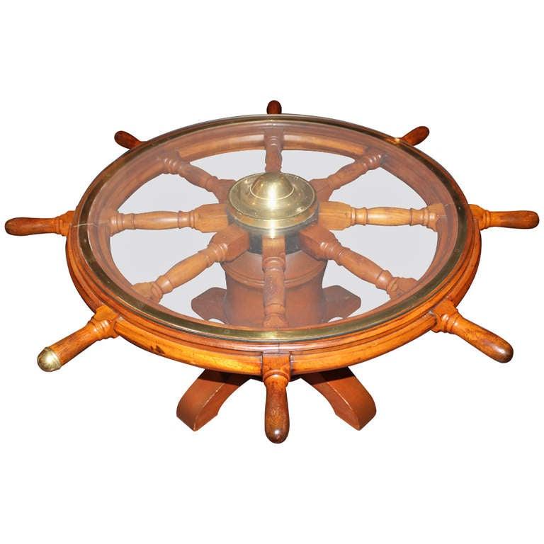 19th C Ship S Wheel Coffee Table At 1stdibs