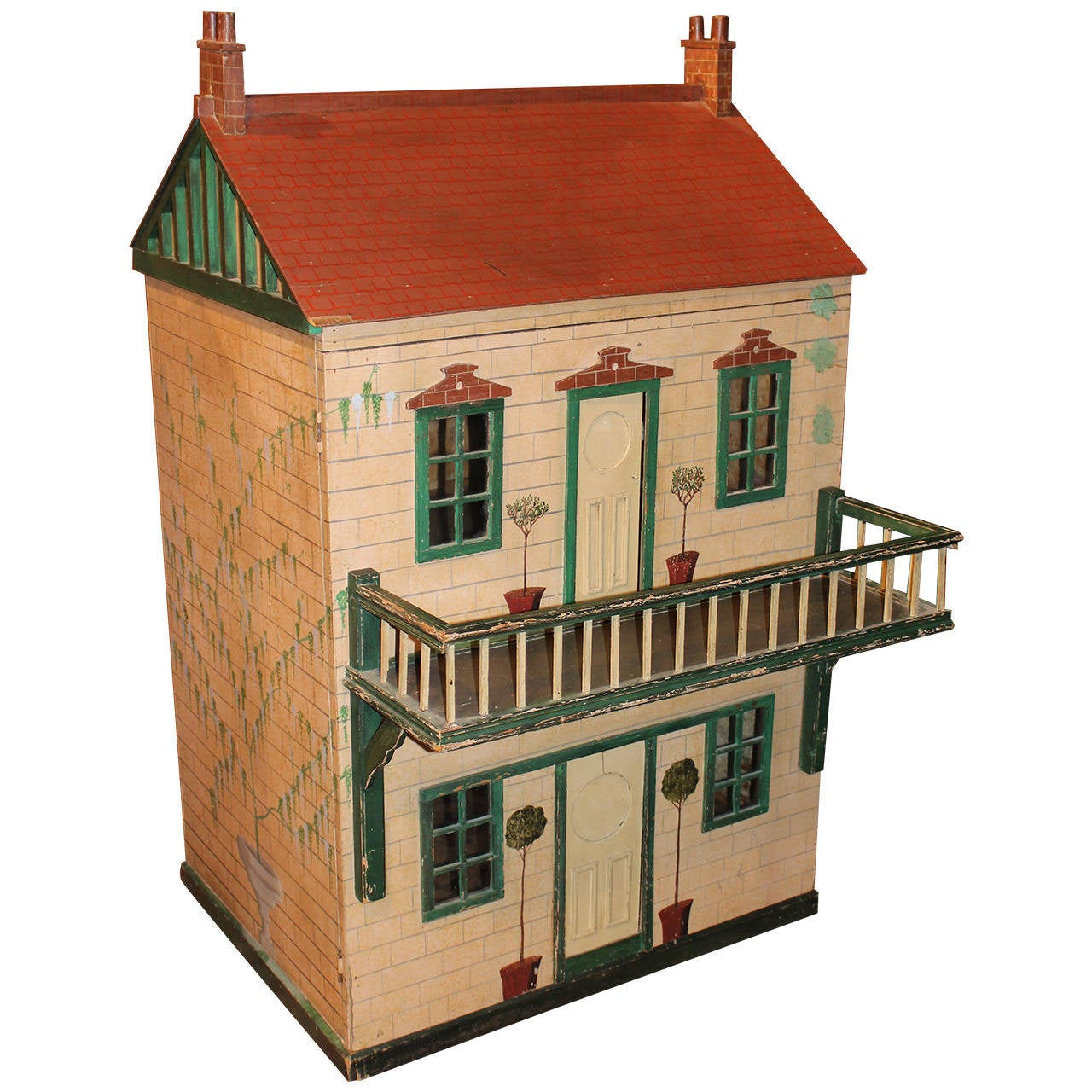 Large English Wooden Doll House At 1stdibs