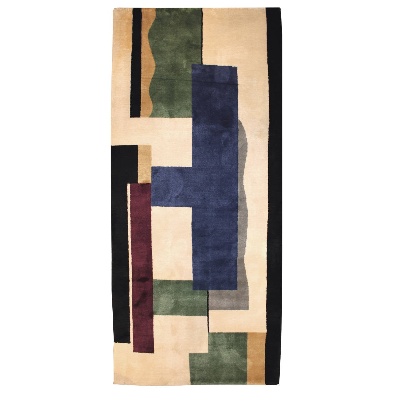 After Fernand Leger, Hand Knotted Wool Rug Or Tapestry U201cBlancu201d 1