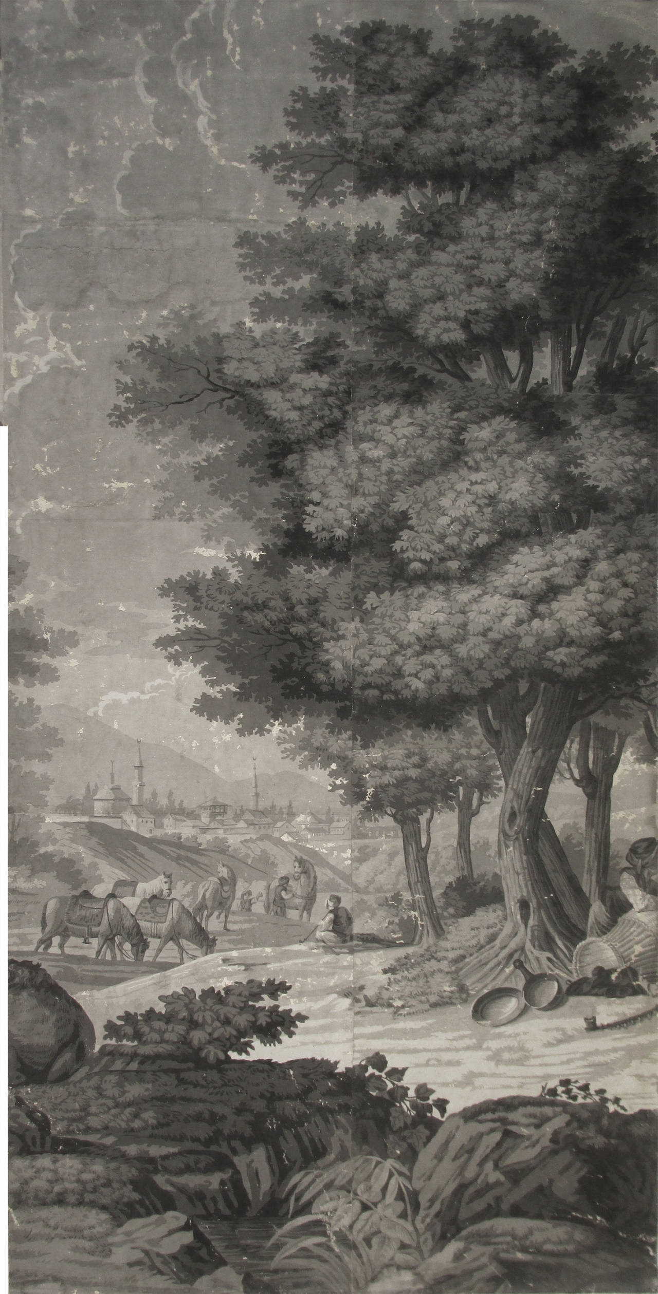 21 Wallpaper Panels, by Joseph Dufour Et Cie, After Comte de Choiseul-Gouffier 8