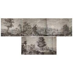 21 Wallpaper Panels, by Joseph Dufour Et Cie, After Comte de Choiseul-Gouffier