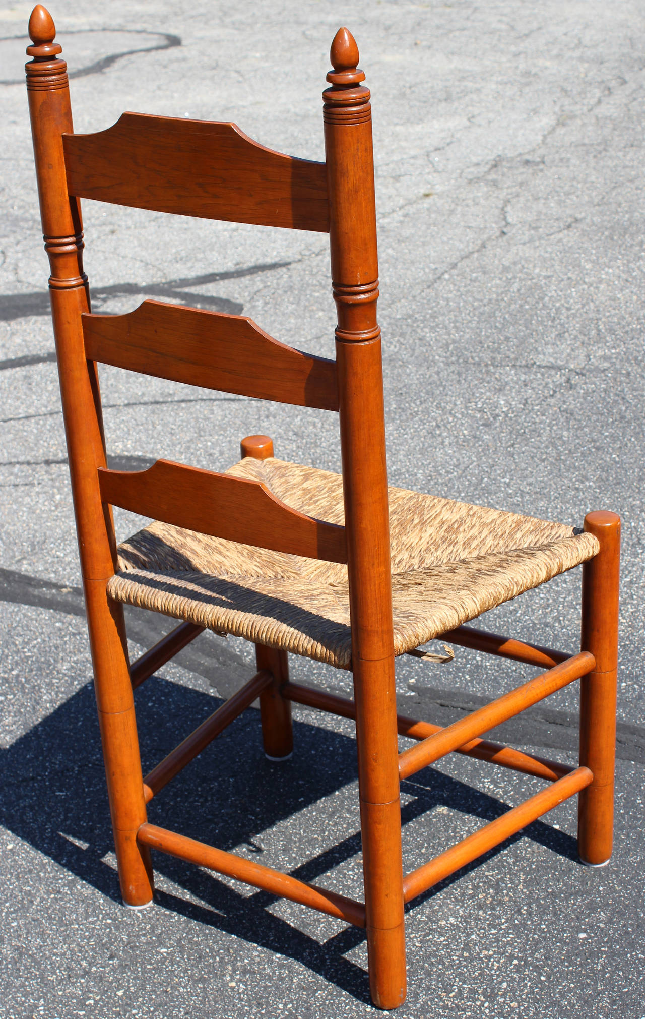 Set of Four Signed Wallace Nutting Ladder Back Side Chairs at 1stdibs