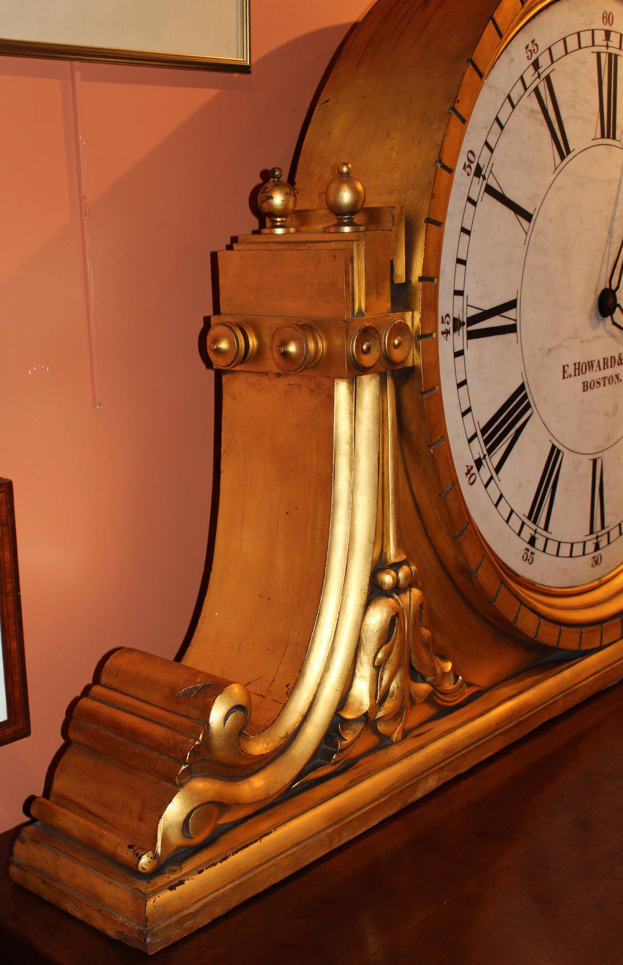 E Howard And Co No 29 Gilded Gallery Clock From Savings