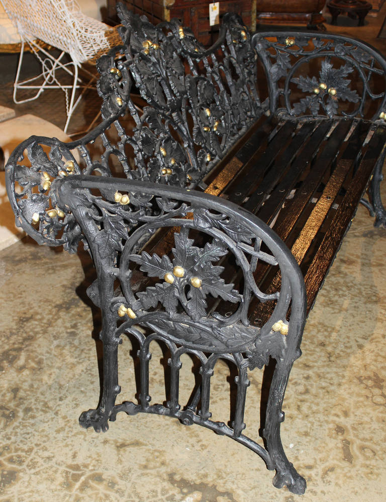 19th Century Iron Bench in the Manner of Coalbrookdale 3
