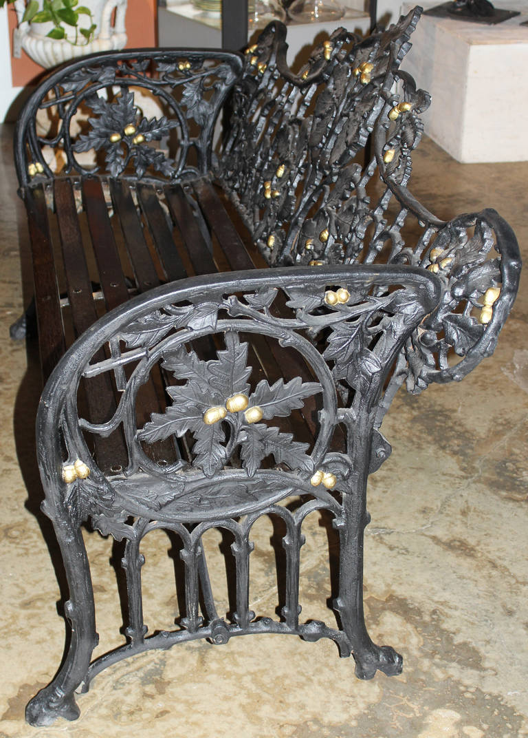 19th Century Iron Bench in the Manner of Coalbrookdale 4
