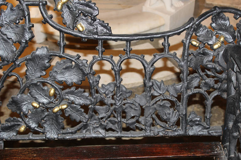 19th Century Iron Bench in the Manner of Coalbrookdale 6