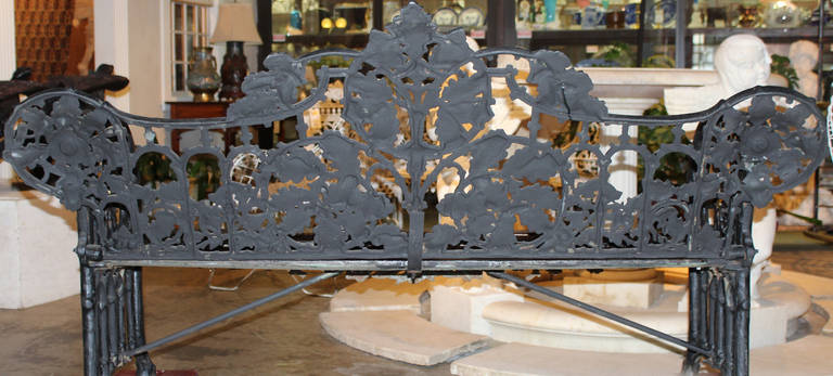 19th Century Iron Bench in the Manner of Coalbrookdale 10