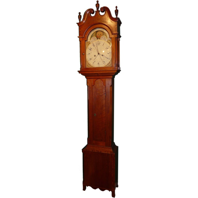 Pennsylvania Cherry Tall Case Clock At 1stdibs
