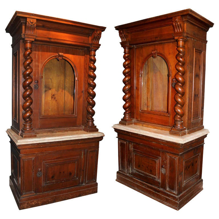 Pair of 19th c Italian Cabinets