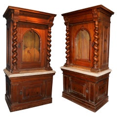 Pair of 19th c Italian Cabinets