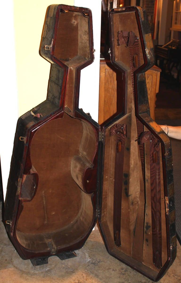 19th Century Brass Bound Cello Case At 1stdibs