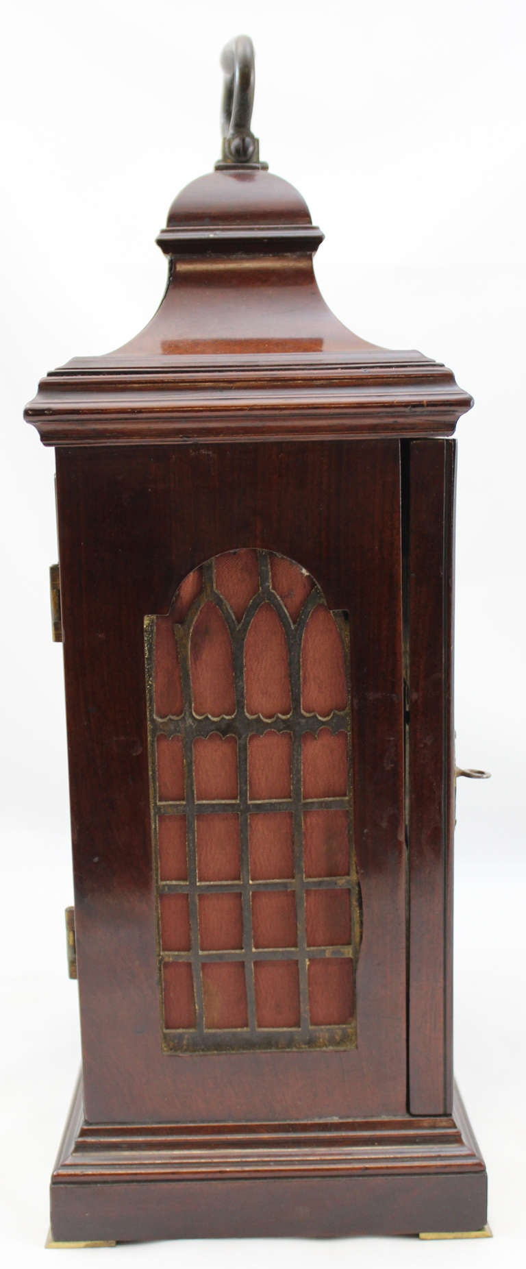 18th c English Edward Foster Mahogany Table or Bracket Clock For Sale 5