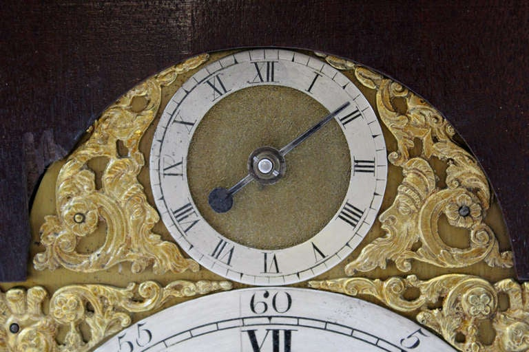 18th c English Edward Foster Mahogany Table or Bracket Clock For Sale 6