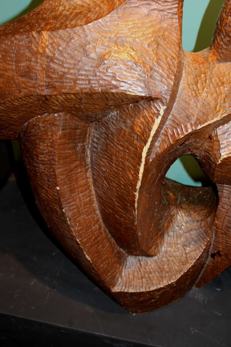 Robert hughes abstract sculpture carved from wood at stdibs