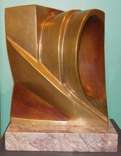 Arturo Di Modica Bronze Sculpture on Marble Plinth