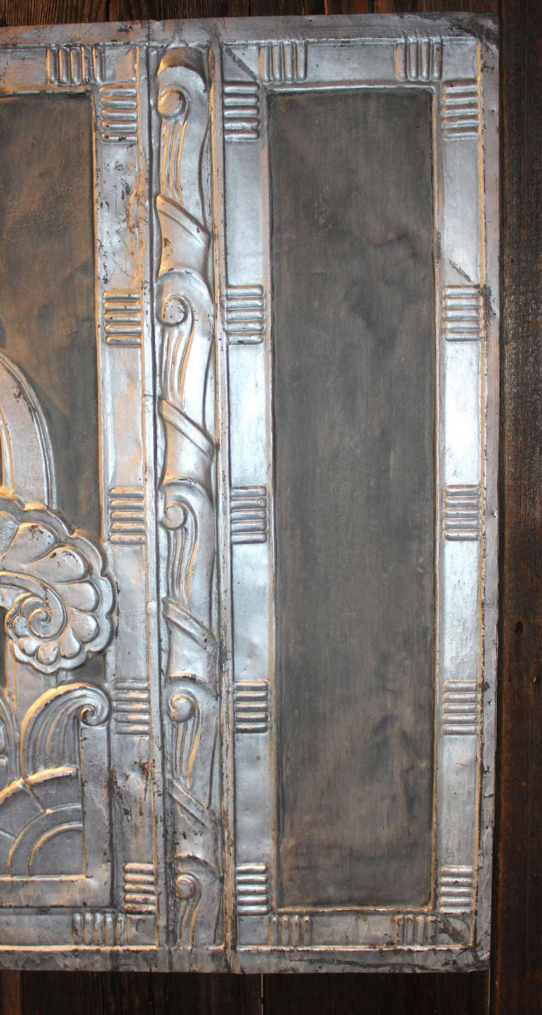 Silvered Copper Art Deco Panel At 1stdibs
