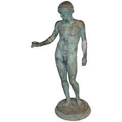 19th Century Grand Tour Bronze of a Classical Nude Male