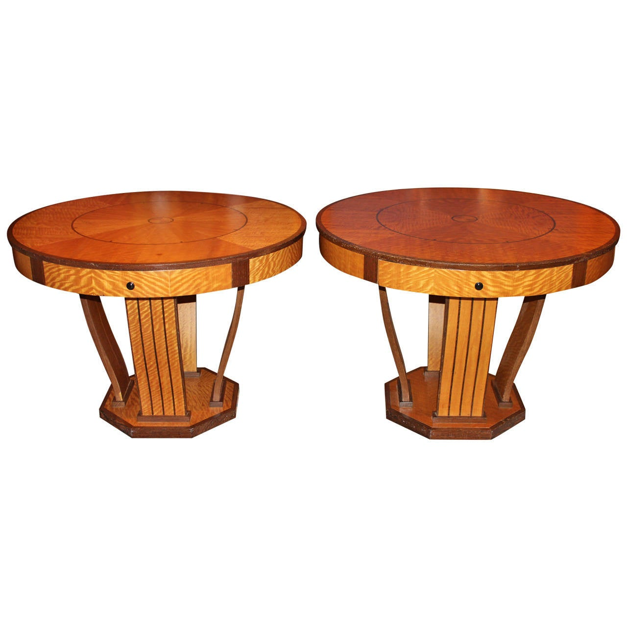Pair of mid 20th century art deco style center tables with for Table th visible