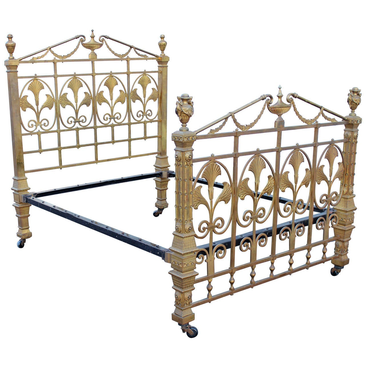 19th c french style brass bed albert phillips excelsior works england 1