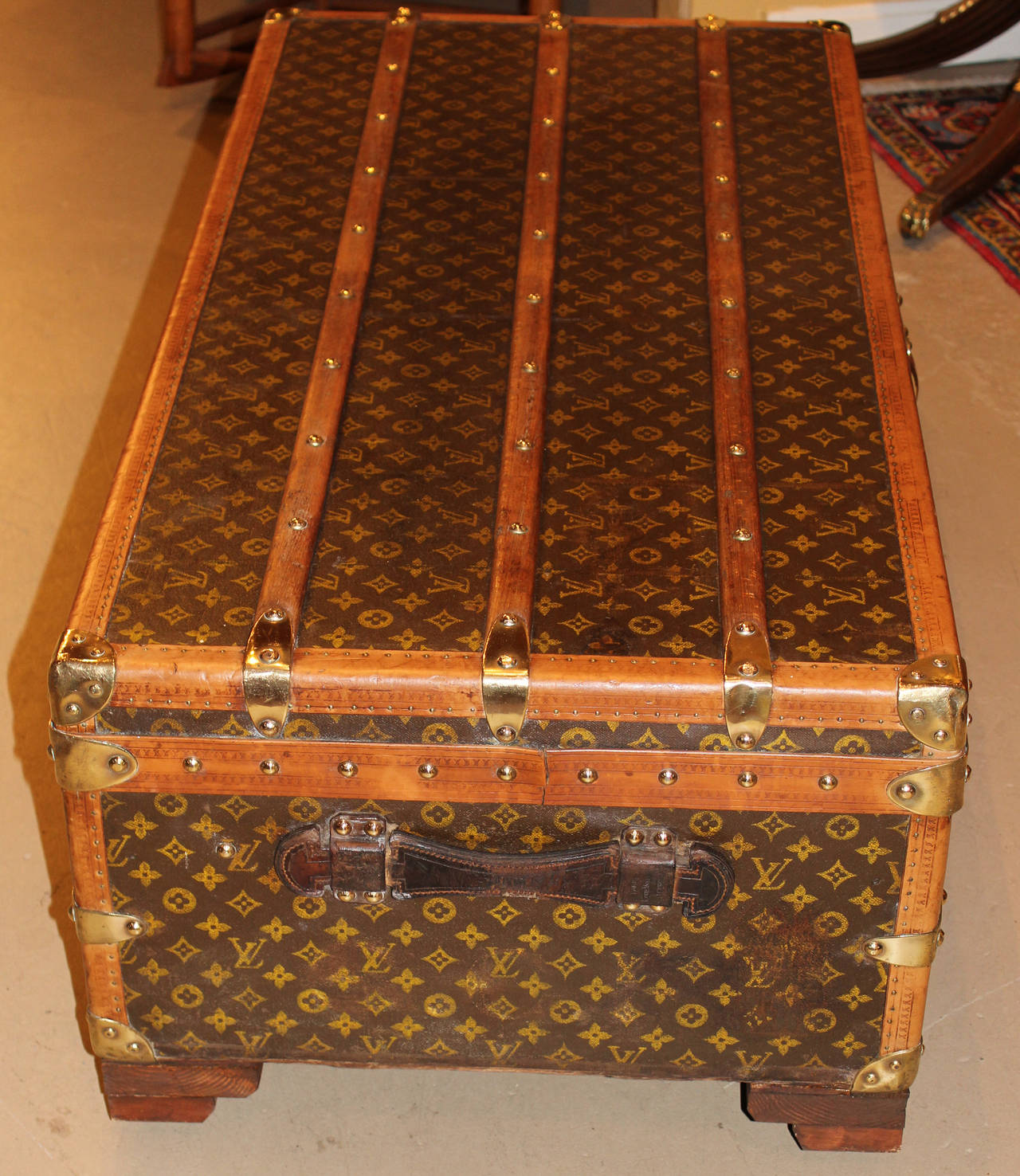 Lv Trunk Coffee Table: Louis Vuitton Cabin Trunk Or Coffee Table, Circa 1920s At