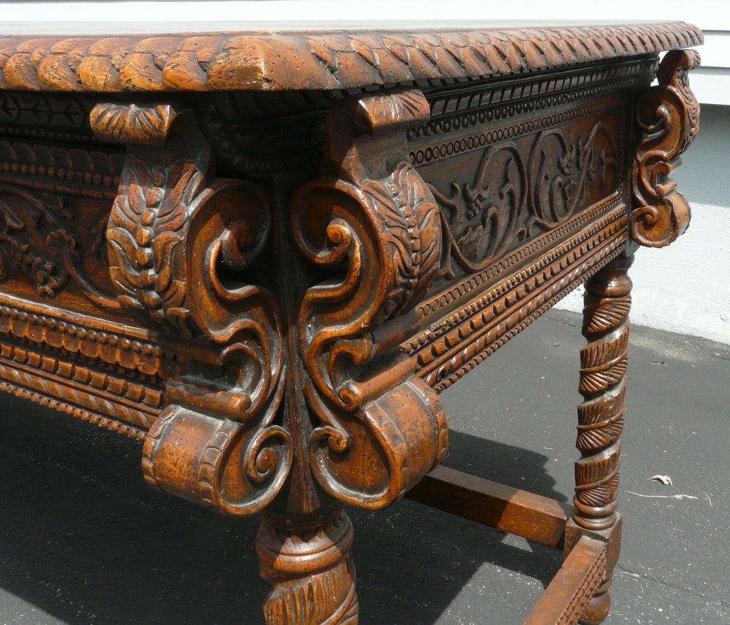 Spanish baroque style sideboard at 1stdibs for Spanish baroque furniture