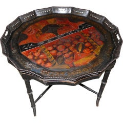 French Tole Tray Table