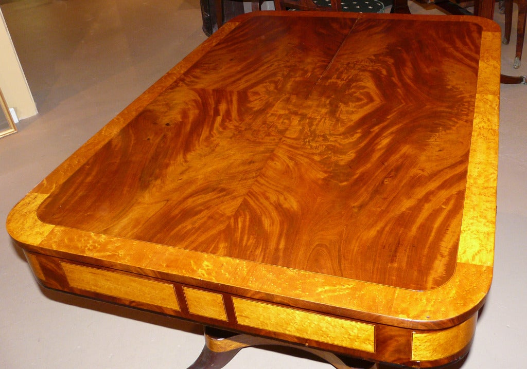 Classical Mahogany And Birdseye Maple Writing Table At 1stdibs