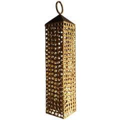 Pierre Forsell Rare Brass Candlestick Lantern Skultuna Sweden
