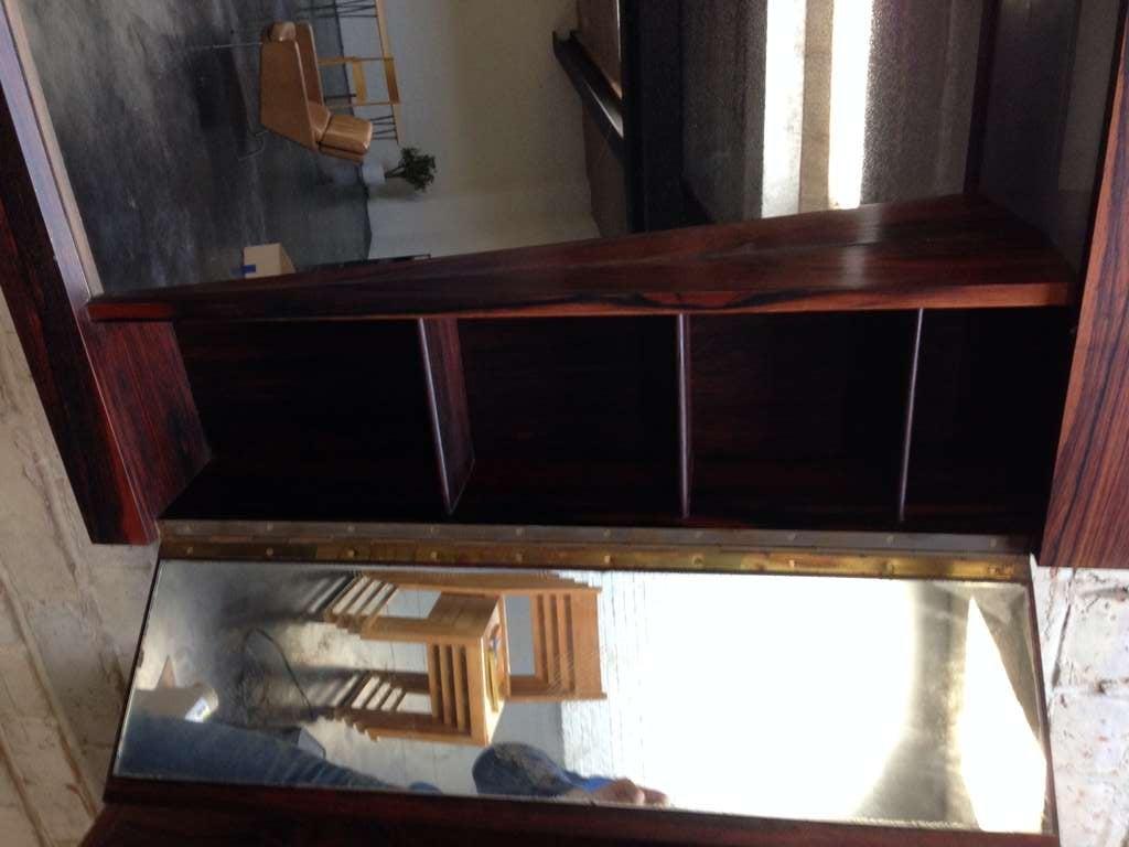 Pair Rosewood Suspended Bathroom Vanity Mirrors At 1stdibs