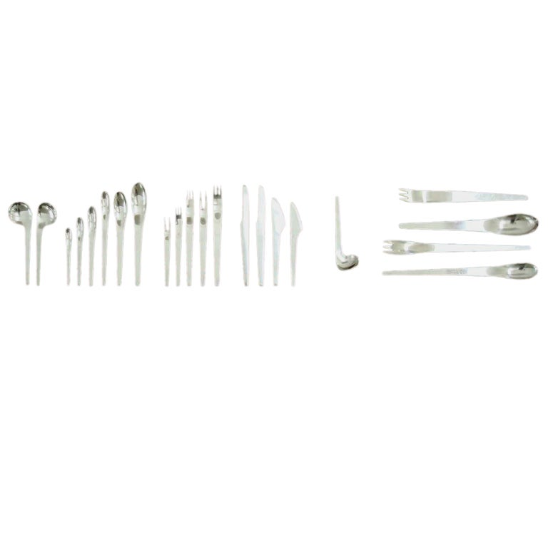 Arne jacobsen flatware for 12 184 pieces made by a michelsen at 1stdibs - Arne jacobsen flatware ...