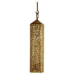 Pierre Forssell Rare Brass Lantern Made by Skultuna, Sweden