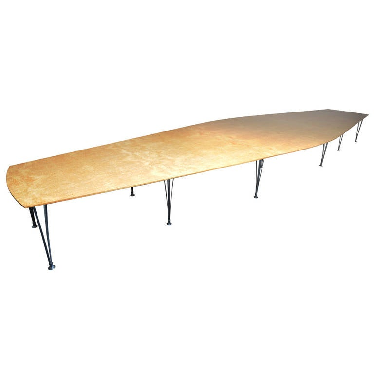Bruno mathsson unique very large dining table at 1stdibs for Really cool dining tables