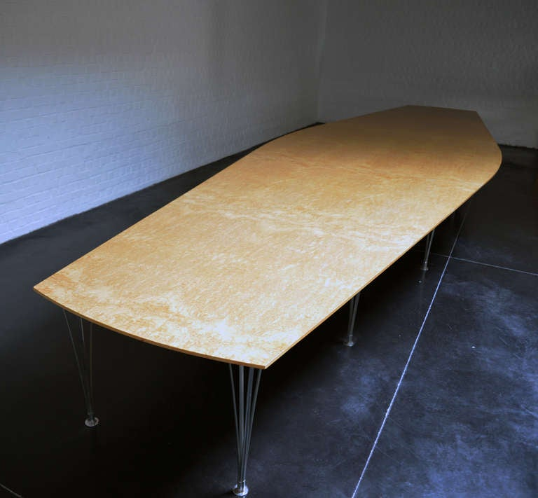 Unique Breakfast Tables: Bruno Mathsson Unique Very Large Dining Table For Sale At
