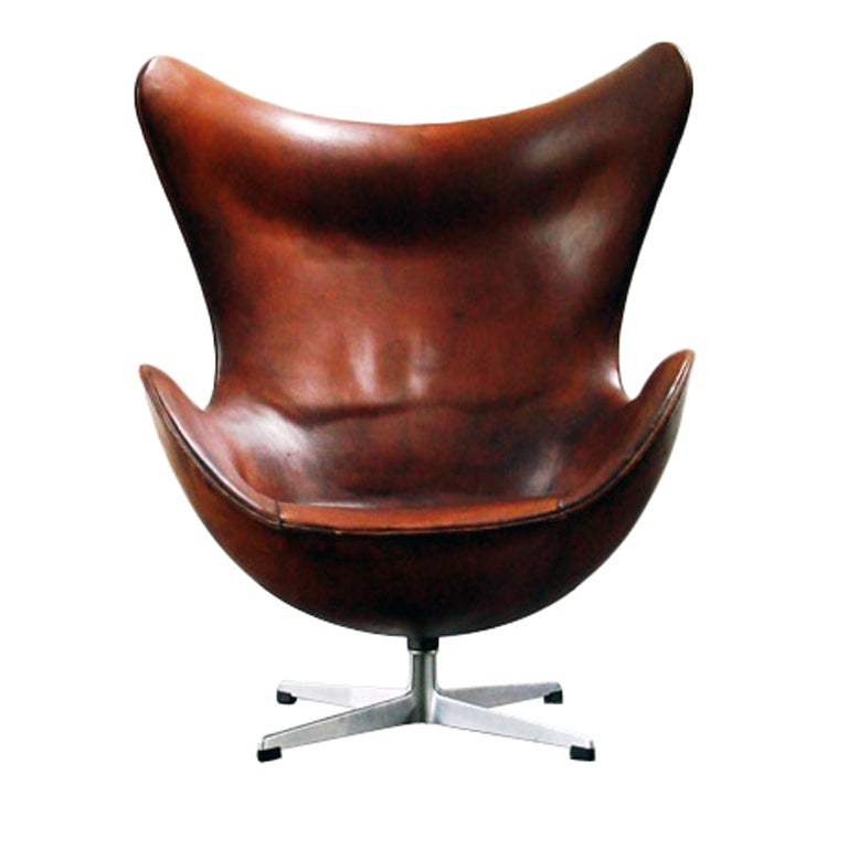 arne jacobsen egg chair first production 1958 to 1960 stamped at 1stdibs. Black Bedroom Furniture Sets. Home Design Ideas