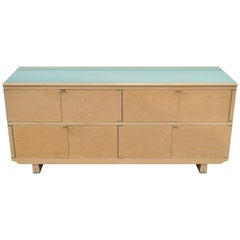 Chi Wing Lo for Giorgetti Olo Maple and Glass Sideboard Credenza Cabinet