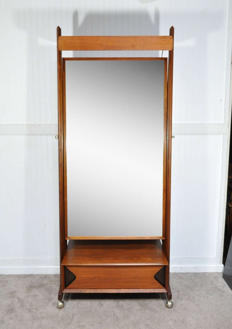 Charming 7 Foot Tall Mirror Part - 6: Marc Berge Grosfeld House Walnut Cheval Tall Mirror Midcentury Danish  Modern 2