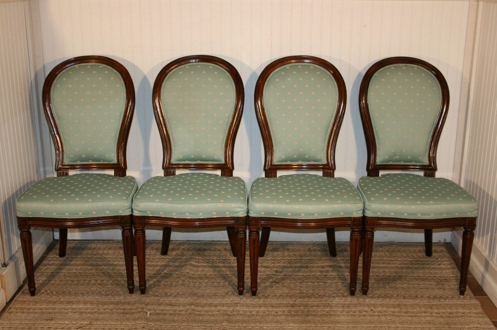 6 henredon french regency style mahogany dining chairs at