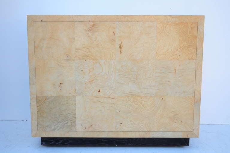 Henredon Scene Two Burl Wood Flip Top Bar Server In The