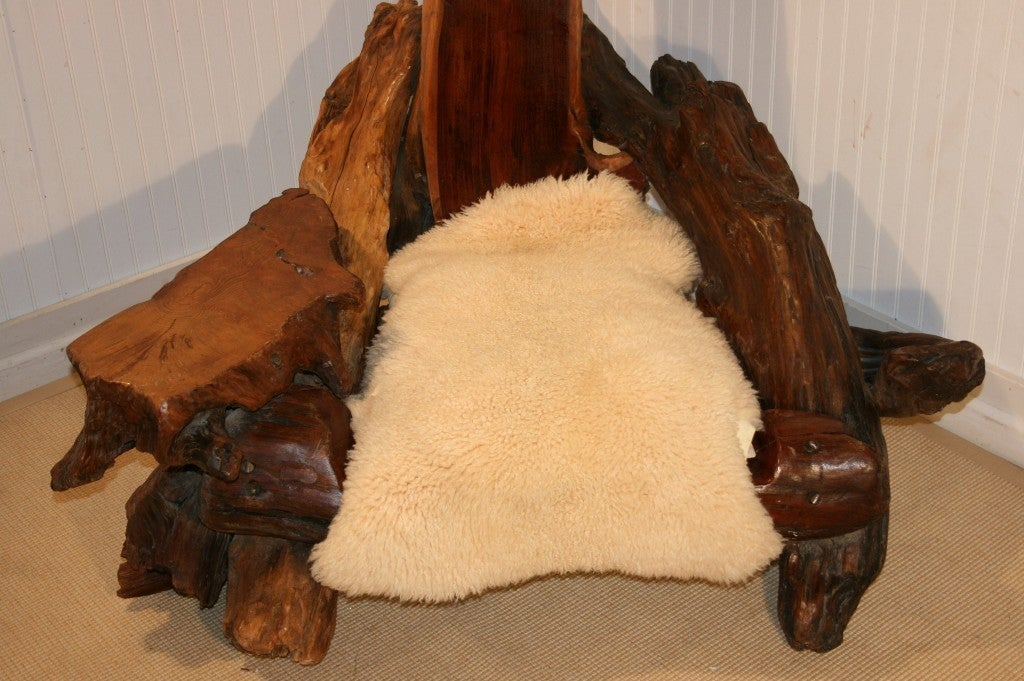 Man Cave Ottoman : Oversized man cave driftwood lounge chair and ottoman