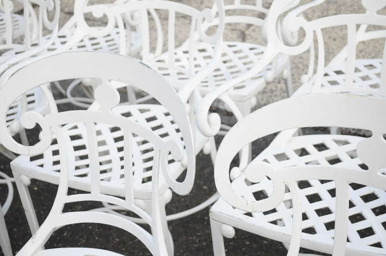14 Tavern on the Green Neoclassical Klismos Cast Aluminum Dining Armchairs For Sale 3