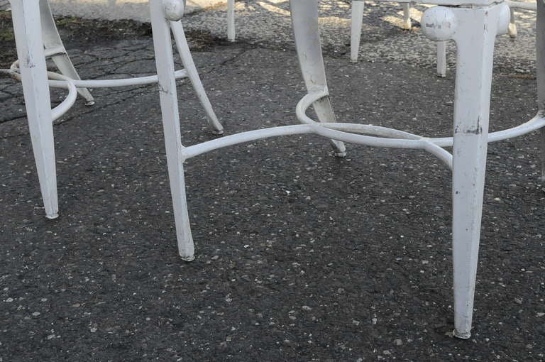 14 Tavern on the Green Neoclassical Klismos Cast Aluminum Dining Armchairs For Sale 2