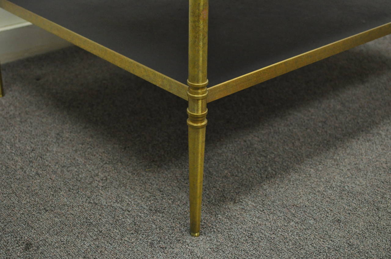 French Neoclassical Maison Jansen Style Bronze and Masonite Serving Side Table For Sale 3