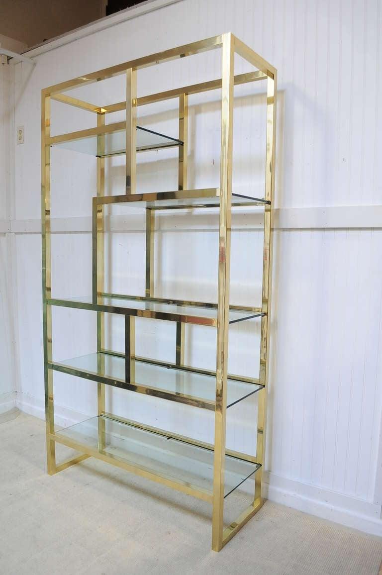 vintage mid century modern gold brass tone etagere after. Black Bedroom Furniture Sets. Home Design Ideas