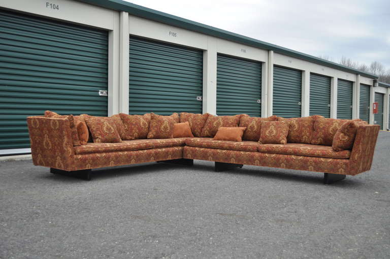 Edward Wormley for Dunbar Two-Part Split Open Arm Bracket Back Sectional Sofa 2