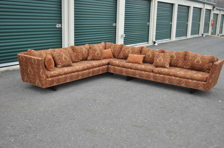 Edward Wormley for Dunbar Two-Part Split Open Arm Bracket Back Sectional Sofa 10